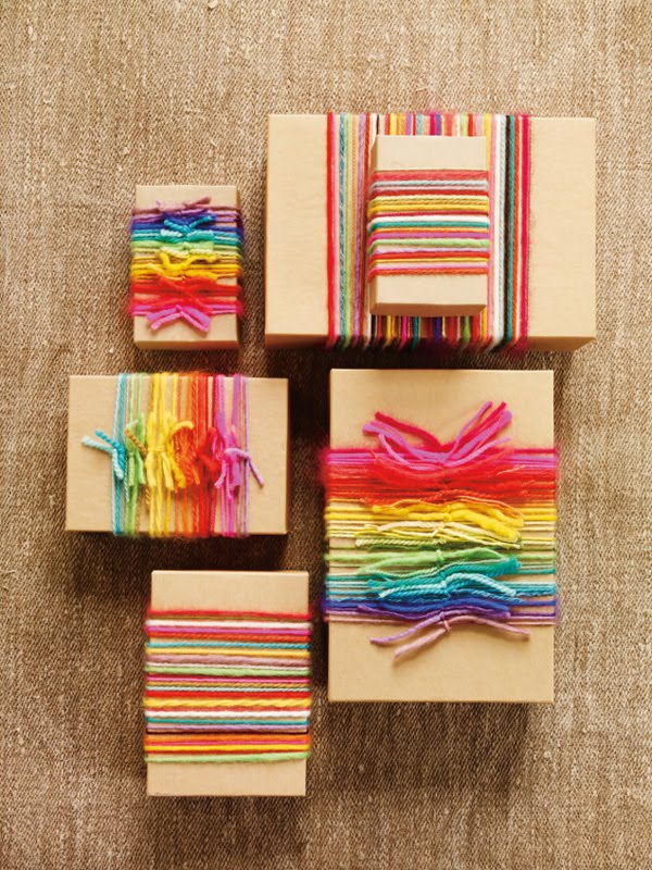 DIY Gift Wrap Using Yarn - The Best-Looking Stashbuster Ever!
