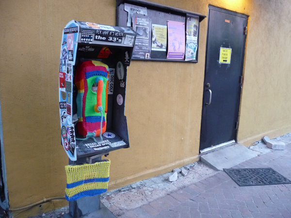 Payphone Yarn Bomb By The Park Circle KnitWits