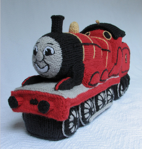 A Knitted James The Red Engine From Thomas And Friends Knithacker