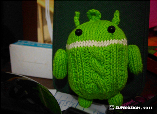 Two Employed Androids ... Knitted, Of Course!
