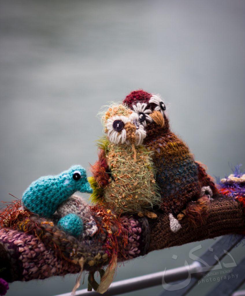 'Woolly-Walk-Along' - Fun Knit Installation Along Devonport Wharf