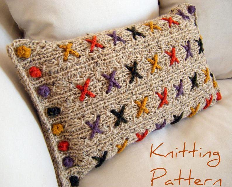 Reversible Knitted Cushion Cover – She Calls It 'Cranberry Kisses' and You Can Knit One Too!