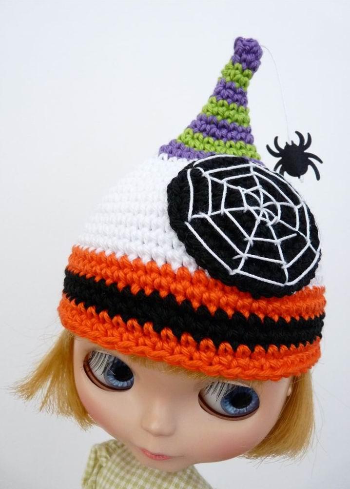 Crocheted Halloween Hat For Blythe
