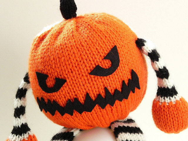 Amazing You Don't Know Jack Knitted Pumpkin by No Knit Sherlock!