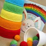 Rainbow Nesting Bowls & Color Sorting Balls For Kids – Free Crochet Pattern!