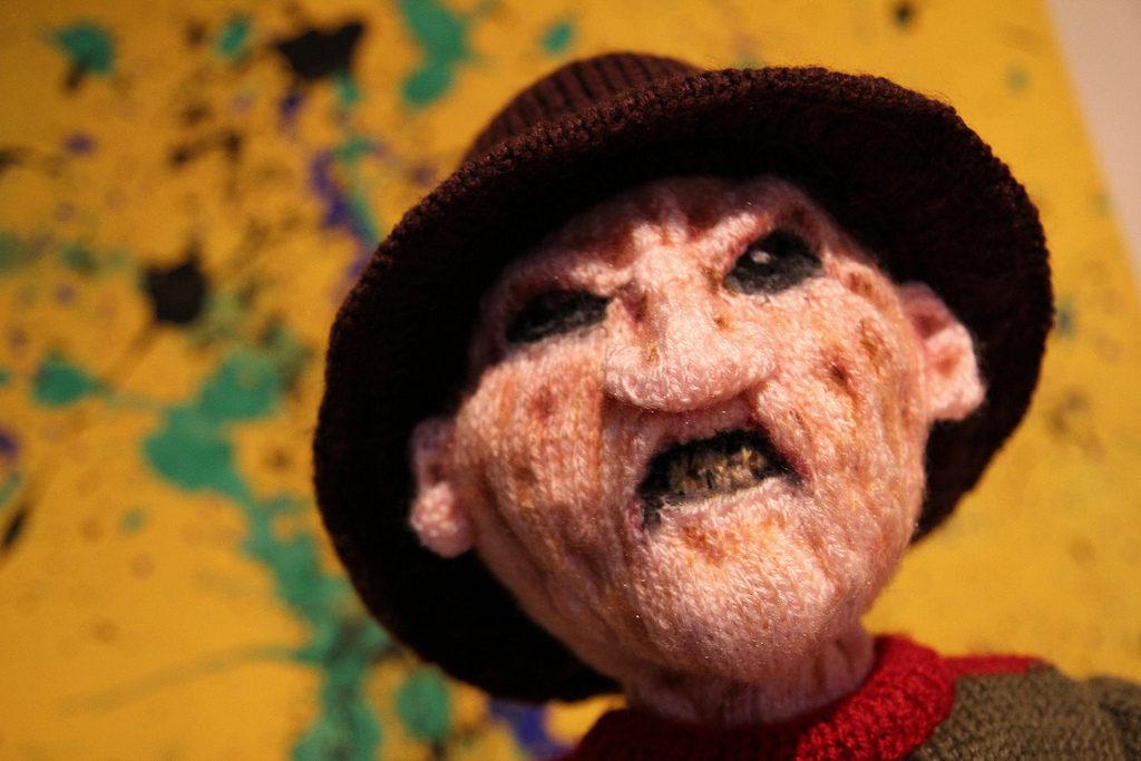 Terrifying and Life-Like Knit Freddy Krueger Doll