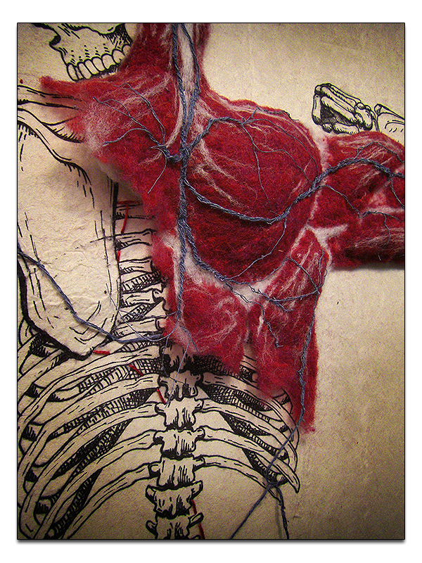Dan Beckemeyer's Hand-Felted Muscle - Amazing Detail