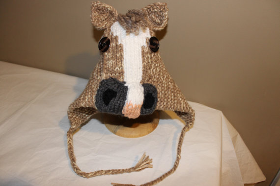 Adorable Knitted Horse Hats  76d98dfd20a
