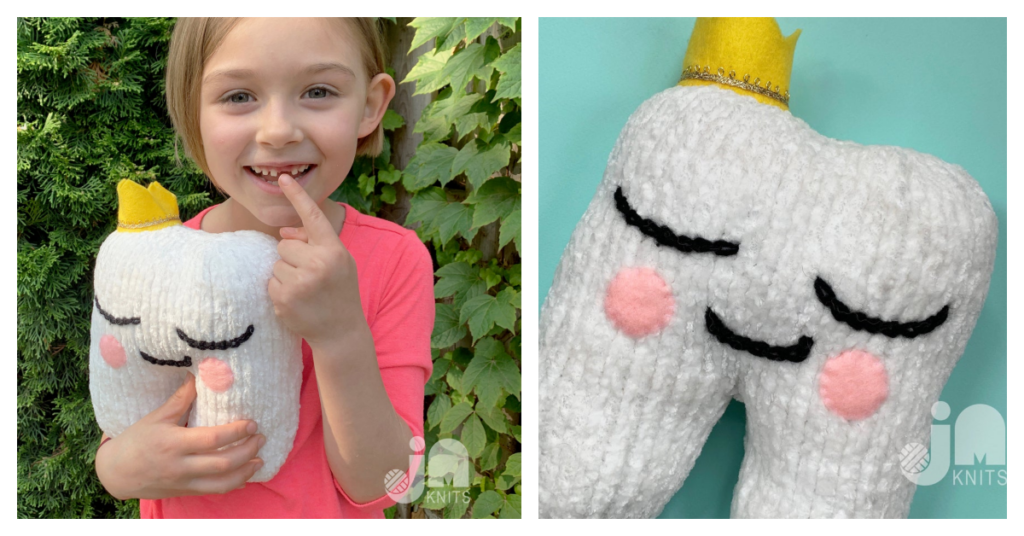 Little Tooth Plushie Patterns, Knit & Crochet ... Perfect For When They Lose A Tooth