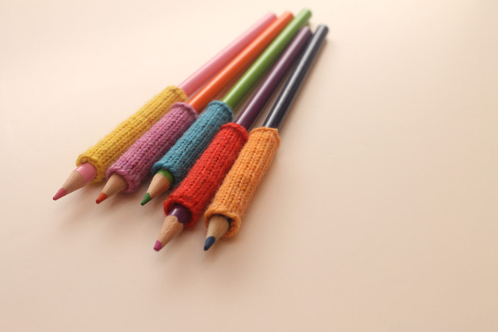 Knitted Pencil Sleeves - Practical and Cute!