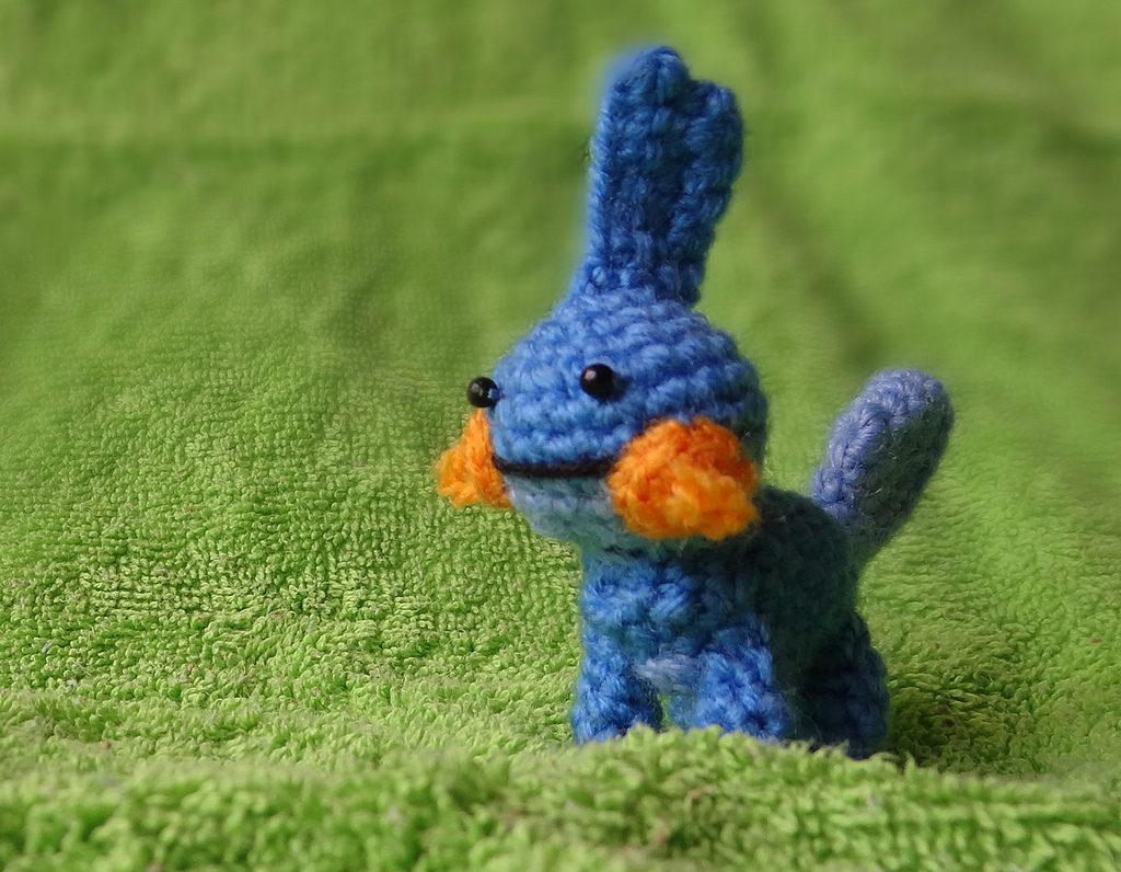 Teeny Tiny Mudkip Amigurumi, a Pokémon known as Mizugorou in Japan