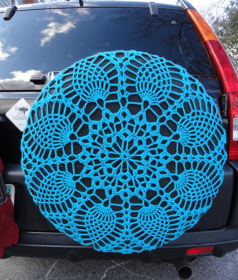Lovely Crochet Spare Tire Doily