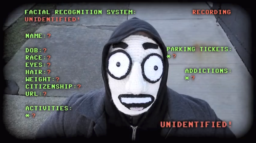 Howie Woo Uses 'Cunning & Crochet' To Trick This Fictional Facial Recognition System