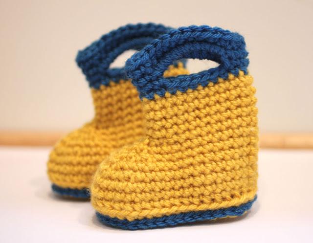 Adorable Crochet Rain Boots - FREE Pattern!