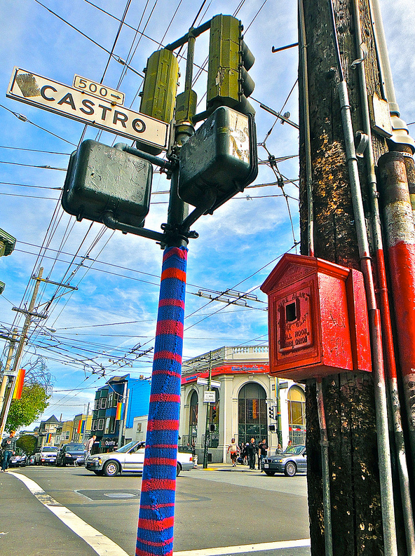 How To Keep Your Pole Warm In The Castro - SFW Yarn Bomb!