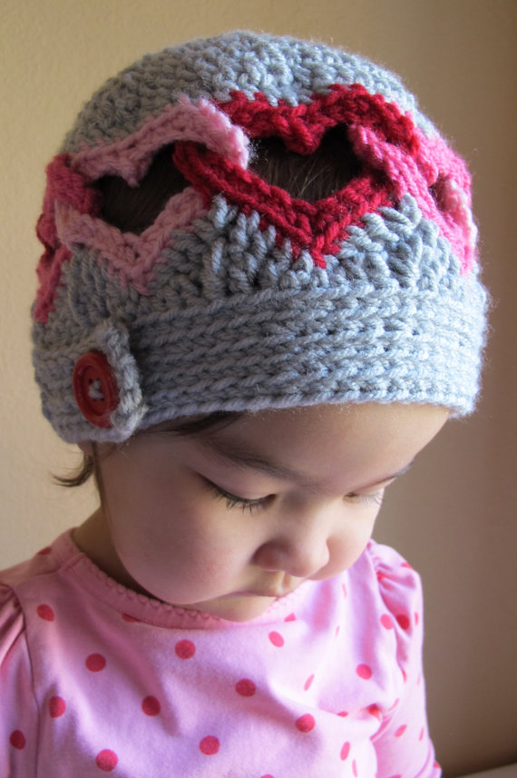 Crochet a Linked Heart Hat … Perfect For the Love Who Stole Your ...