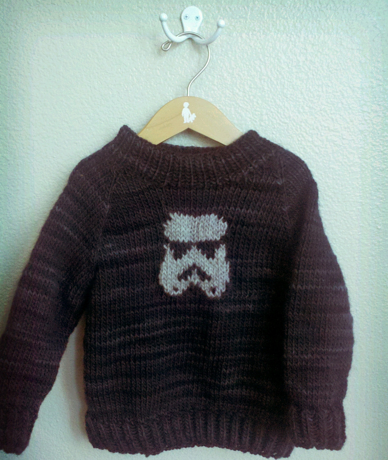 Knitted Stormtrooper Sweater - A Subtle Nod to Star Wars That Really Works!