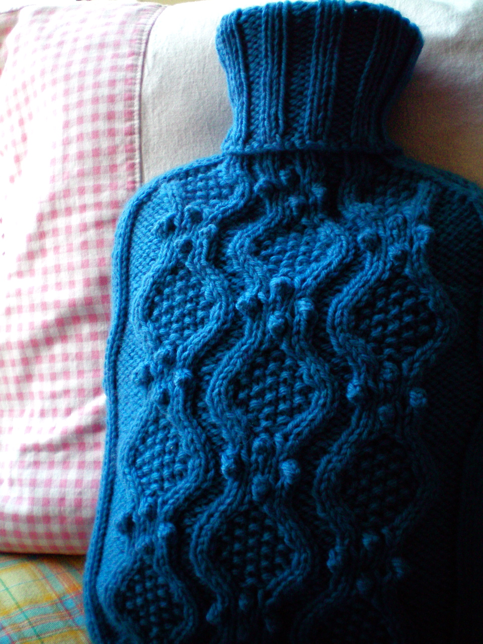 As Beautiful As a Hot Water Bottle Cozy Can Be - Plus a FREE Pattern!