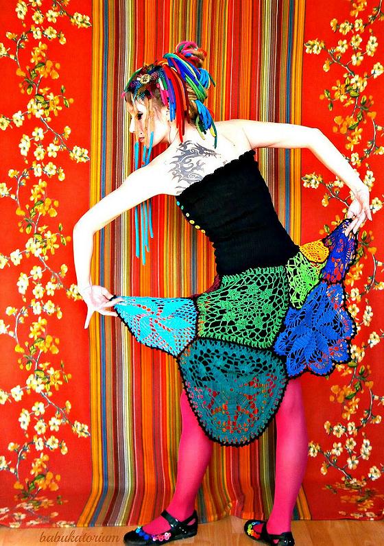 Fun Crochet Dress By Babukatorium, It's All About Rainbows!