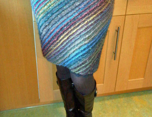 Knit a Lively Lanesplitter Skirt, Get the FREE Pattern via Knitty!