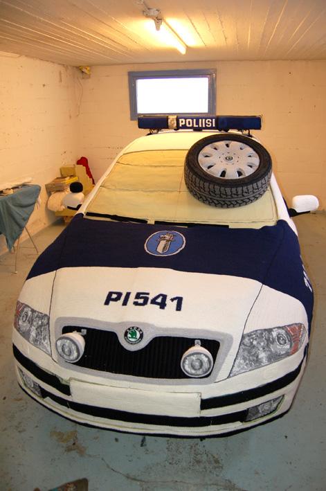 These Finns Crocheted a Cop Car!