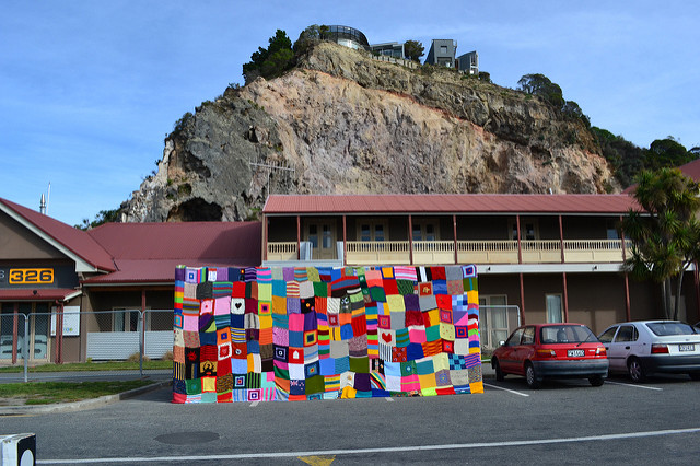 'Container Love' Yarn Bomb