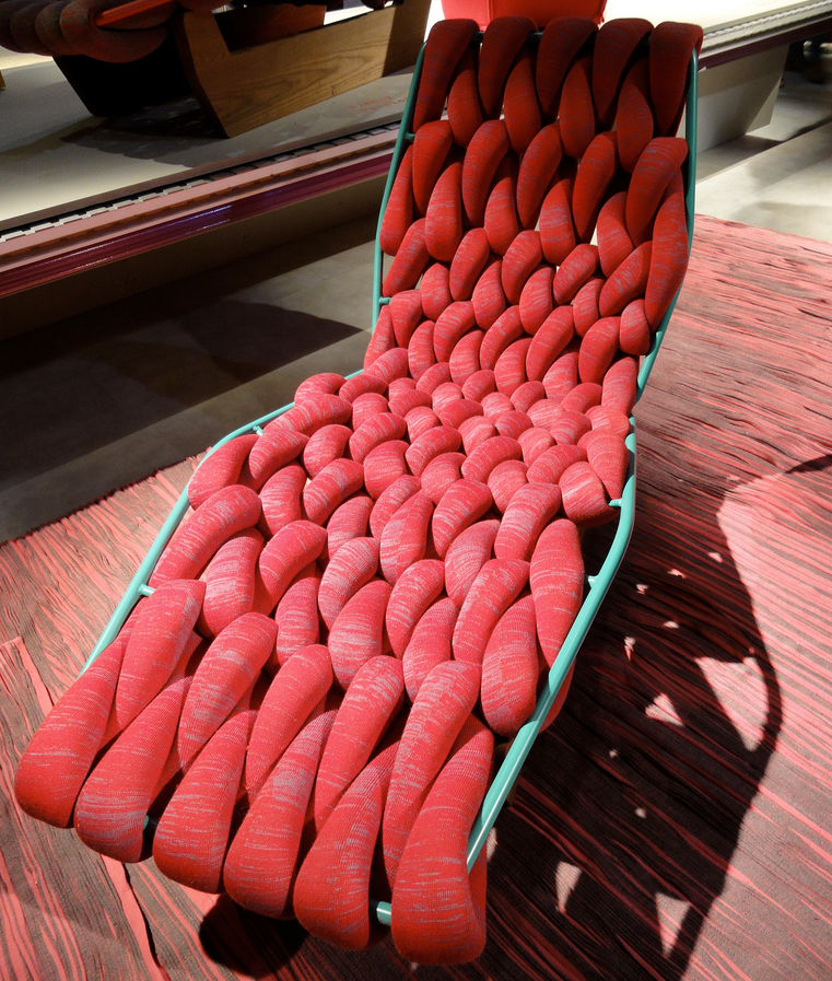 Big Knit Lounge Chair - Big Knitting At Its Best!