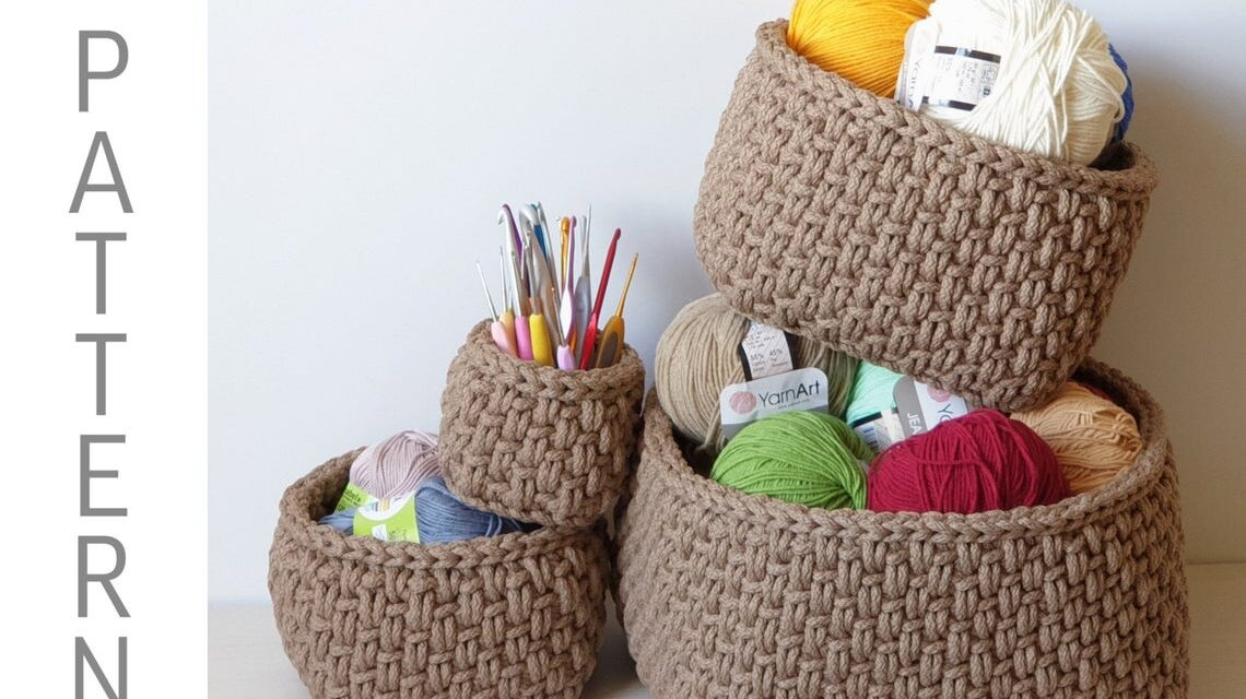 Crochet Nesting Baskets … So Classy Looking!