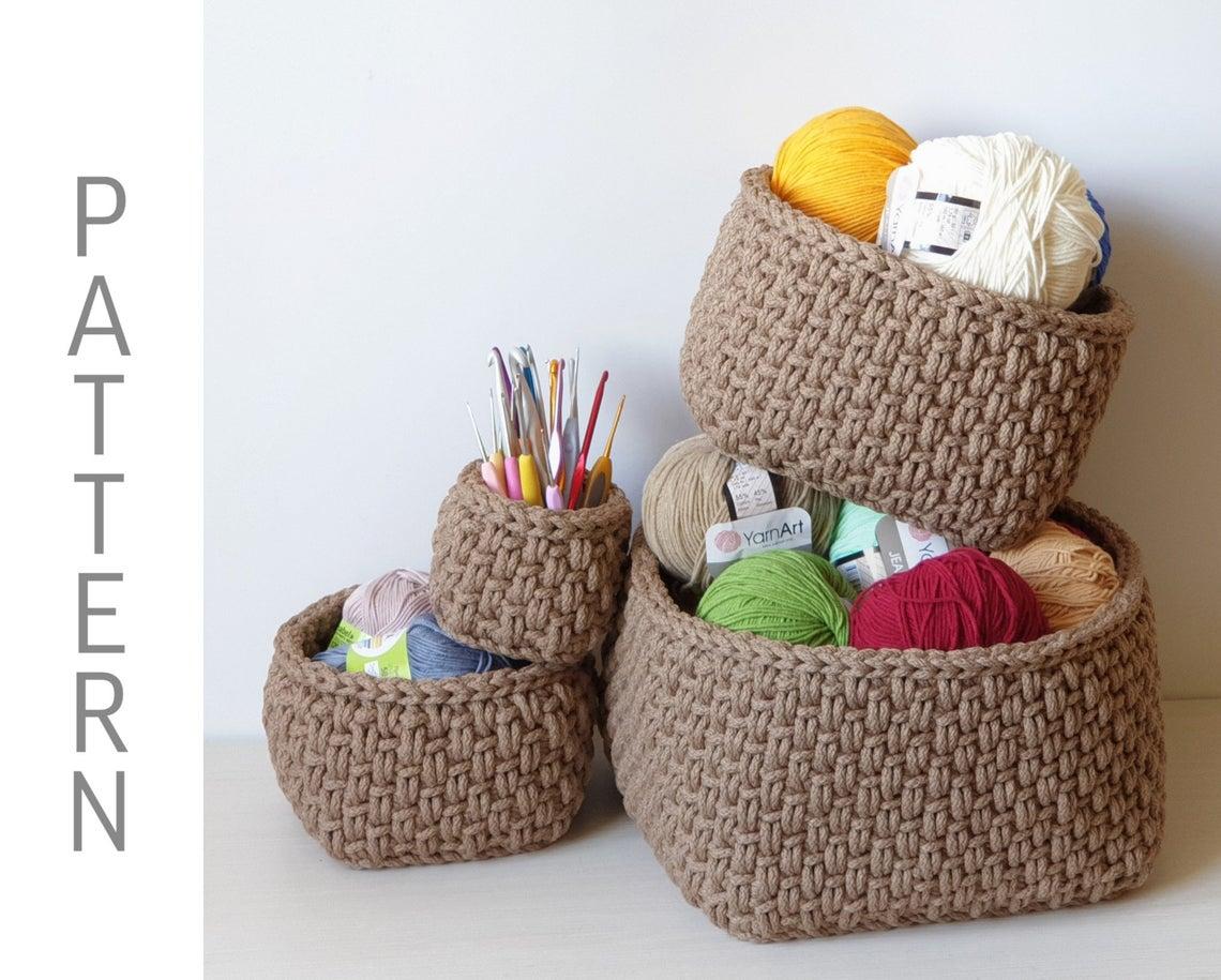 Crochet Nesting Baskets ... So Classy Looking!