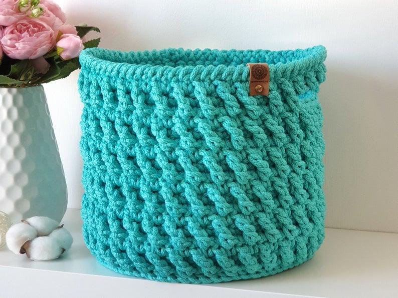Get the crochet pattern, designed by ArsBaskets #crochet