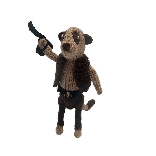 Hey Star Wars Fans, Heather Knit a Han Solo Meerkat