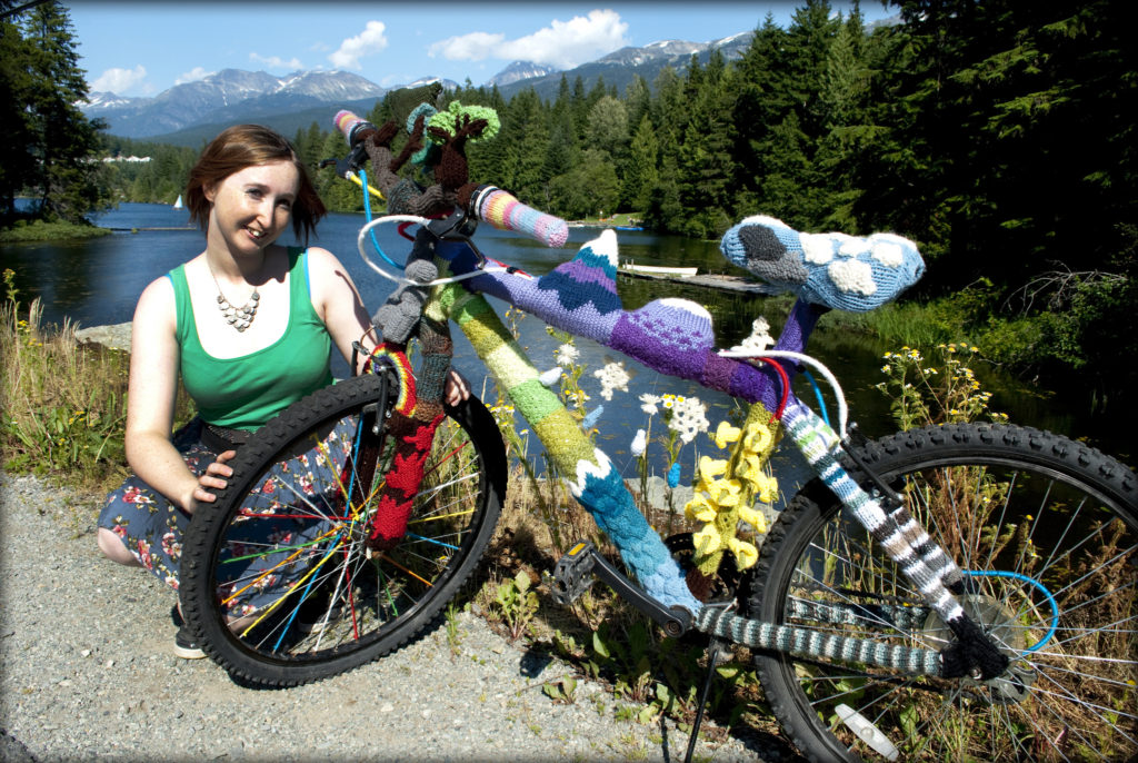 Anna Lynch's Yarn Mobile Depicts Whistler B.C.'s Ecosystem!!