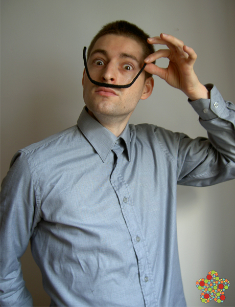 He Knit Dali's Moustache - a Simple Cosplay!