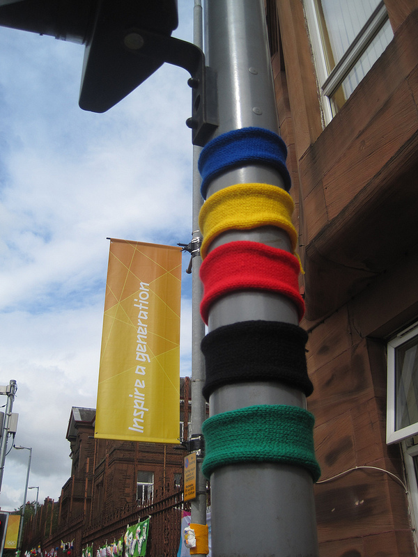Olympics-Inspired Yarn Bomb Spotted in Glasgow