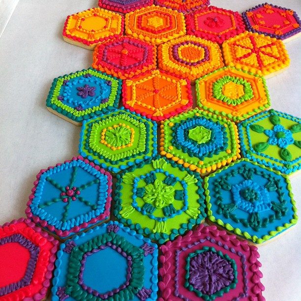 Incredible Display! These Cookies Are Inspired By Crocheted Afghans – WOW!