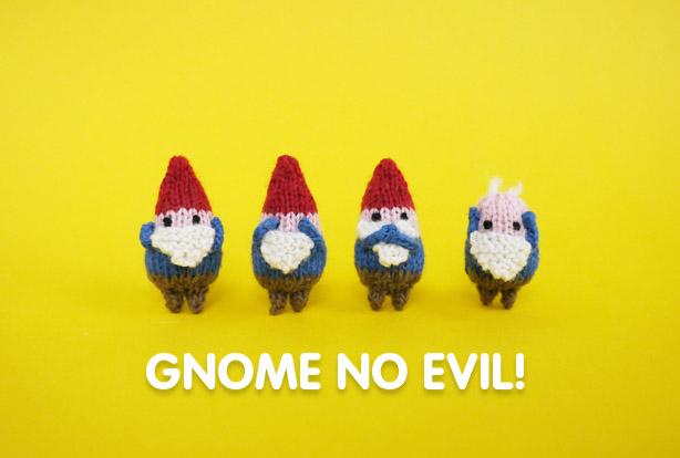 'Gnome' No Evil Amigurumi ... Get The Pattern!