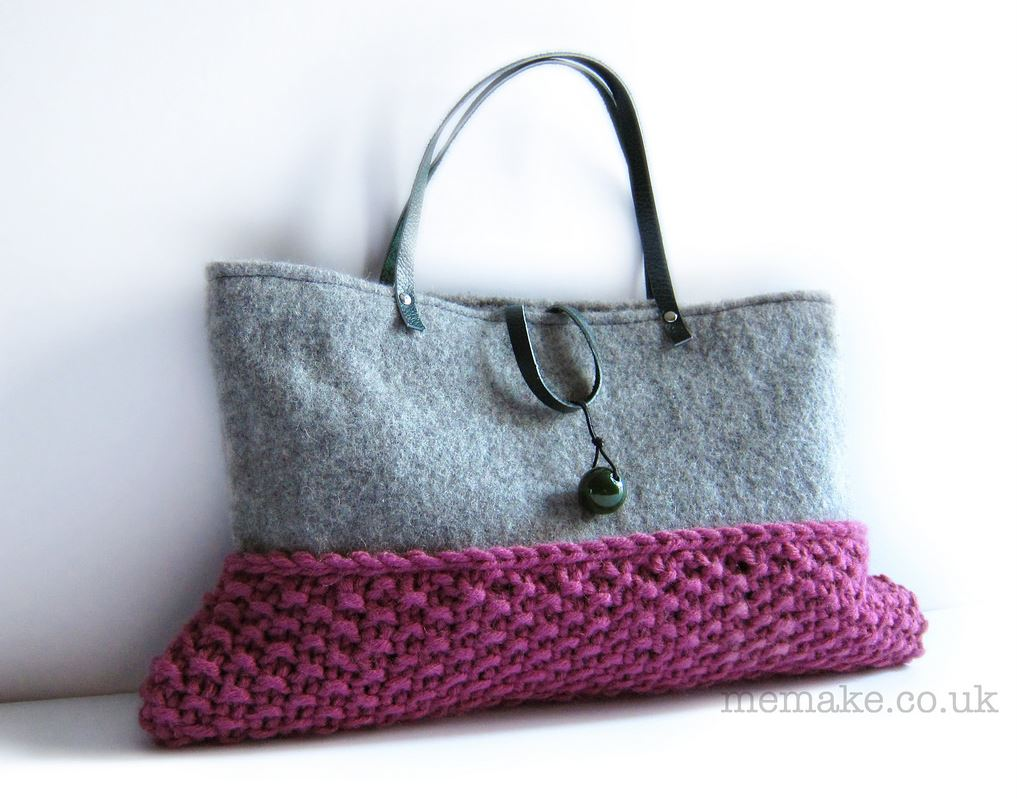 You'll Fall in Love With This Felted and Knit Bag By Memake