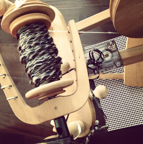 Spinning a Unique Yarn ... With Cassette Tape!
