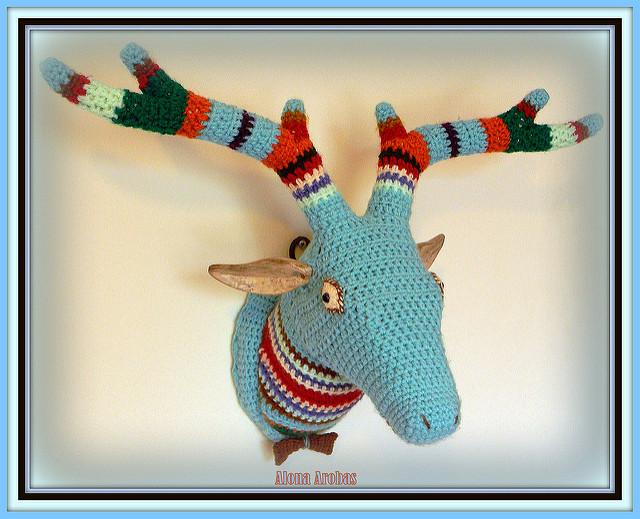 Crochet Deer Head - Fabulous Fauxidermy by Alona Arobas