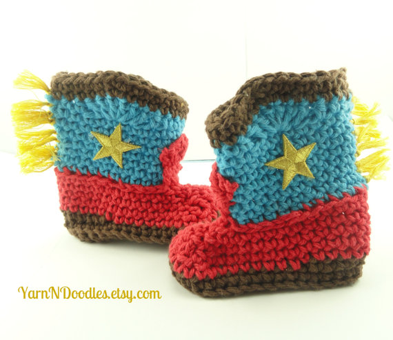 Too Cute Crocheted Baby Cowboy Hat & Boots
