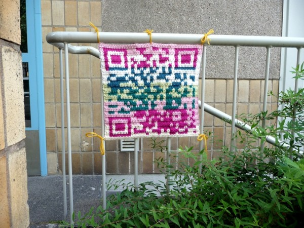 How To Make a QR Crochet Yarn Bomb by Anu Koski
