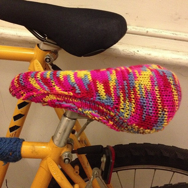 Simple Knitted Bike Seat Cover