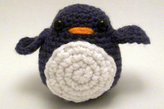 She Crocheted a Cute Penguin Amigurumi