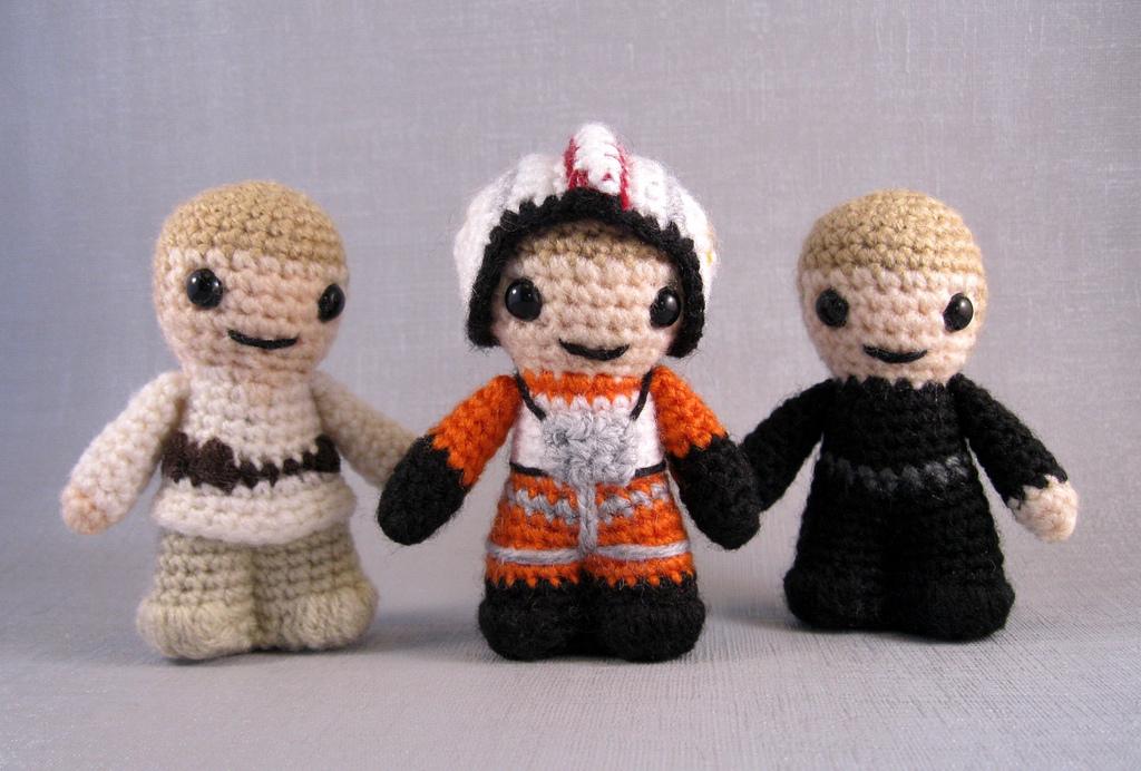 The Three Faces Of Luke ... Crochet Luke Skywalker Amigurumis!