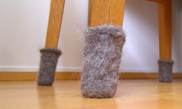 Felted Furniture Feet aka Chair Socks … Great Home Hack, Easy To Knit!