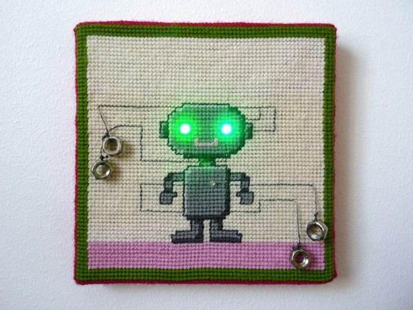 Needlepoint Robo by the Ageing Young Rebel