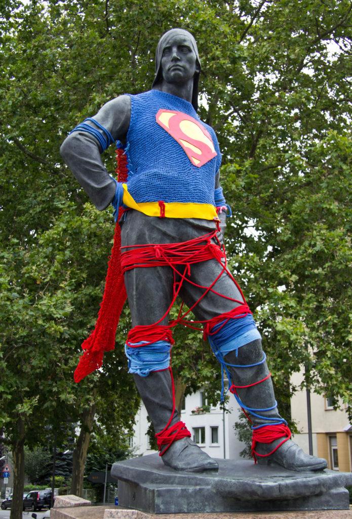 I Am, I Am, I Am Superman - Fun Knit Superhero Yarn Bomb!