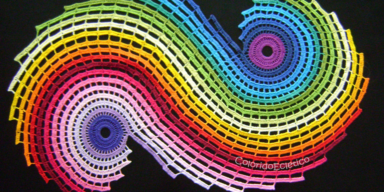 chasing rainbows in crochet … fractal design at its colorful best