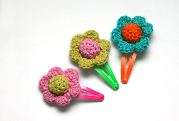 Spring Is Coming, Make These Colourful Crochet Hair Clips