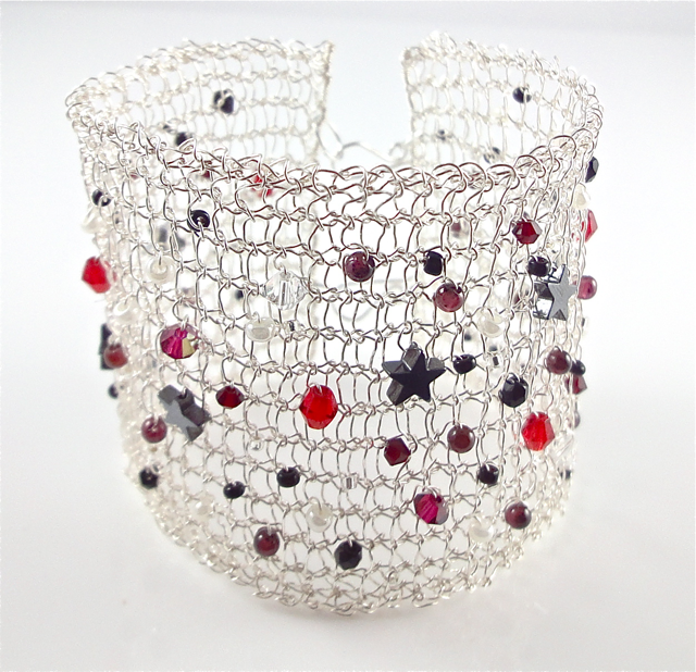 Yarnspiration Without The Yarn: Knitted Wire Bracelet by Pollyanna Gunning